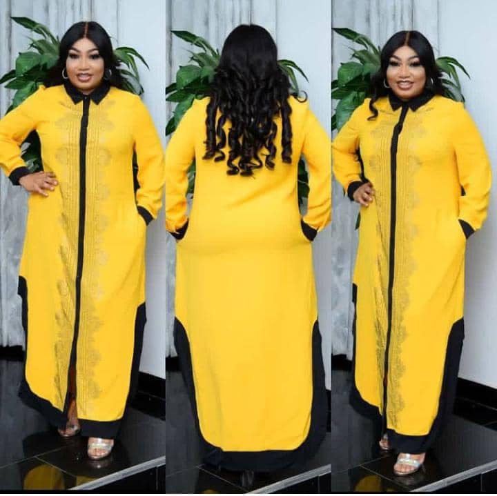 Female Button Down Long Gown | Clothing for sale in Lagos State, Alimosho
