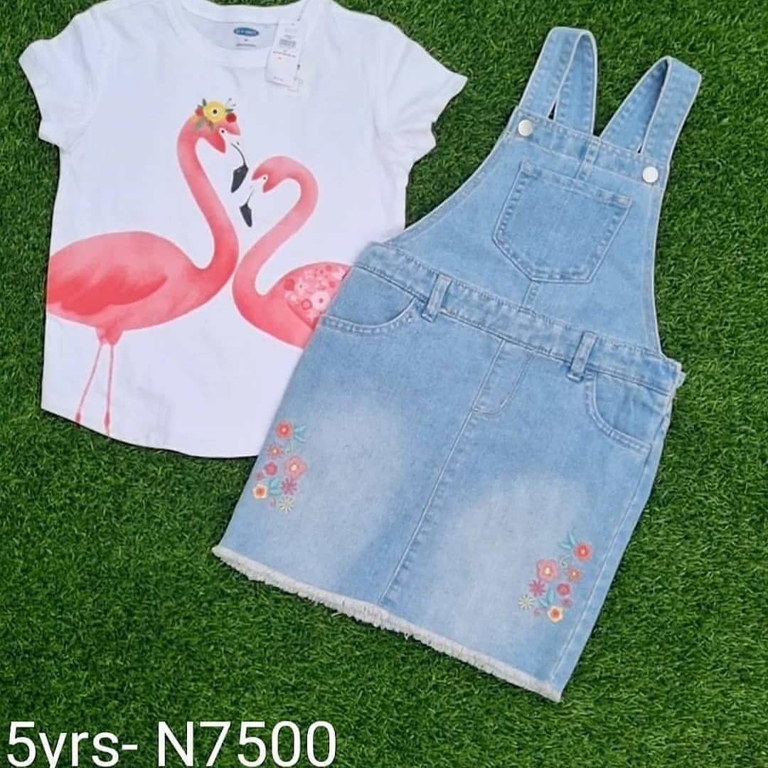 Dungarees Mix Match for Girls   Children's Clothing for sale in Lagos State, Lekki